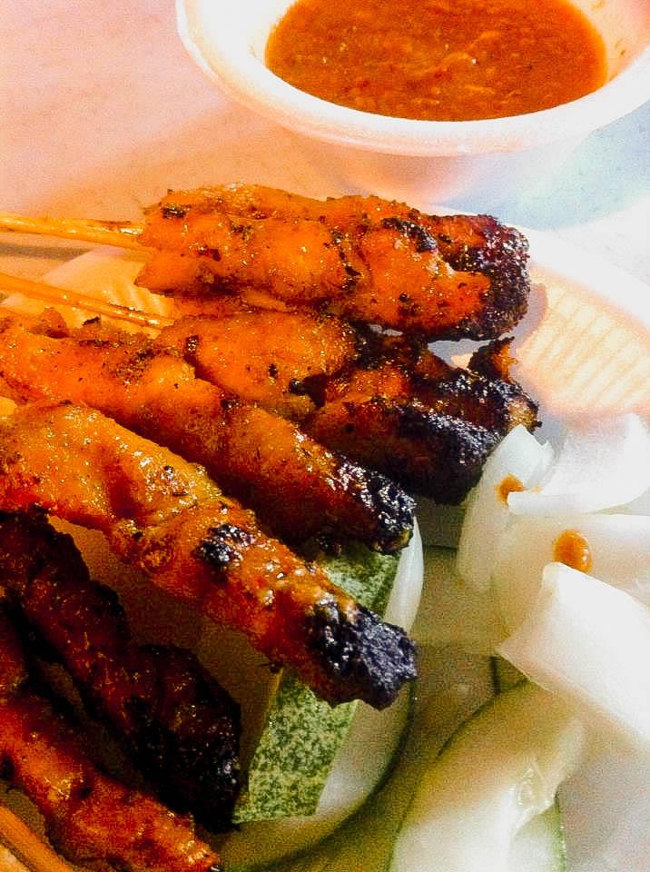 Satay Street Singapore - chicken satay stall 6
