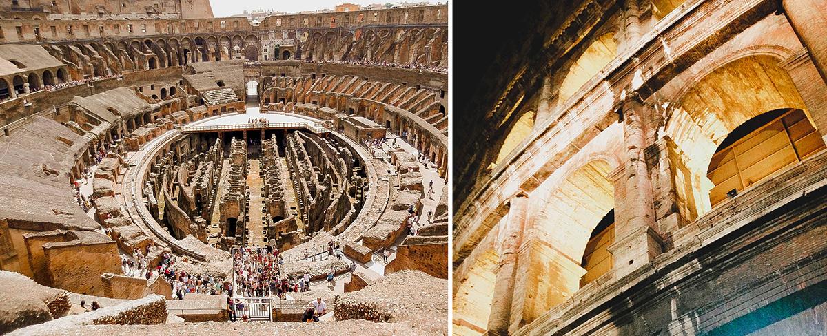 colosseum rome interior