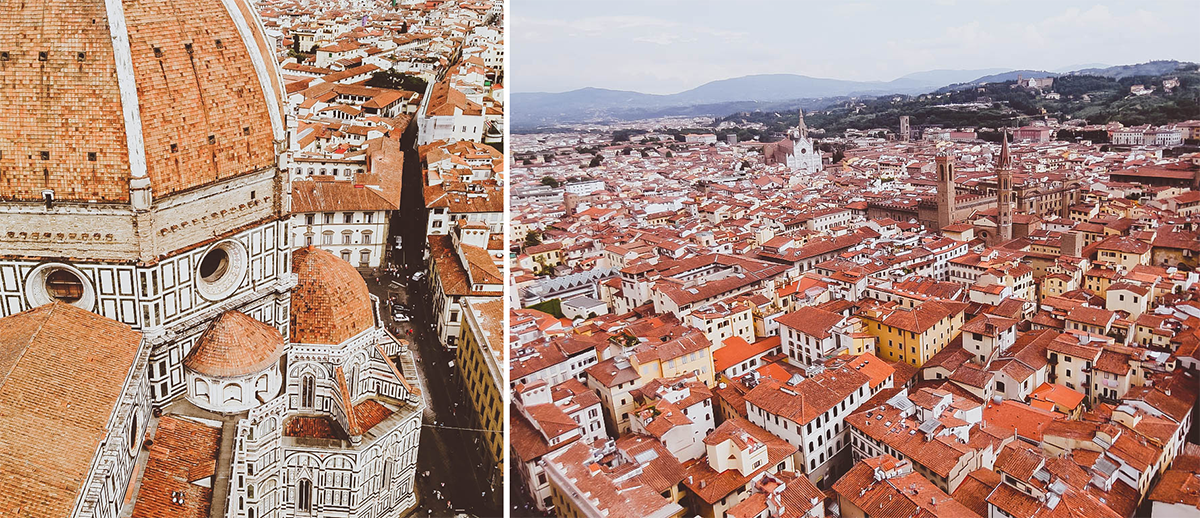 Florence Italy | view from the top of giottos campanile