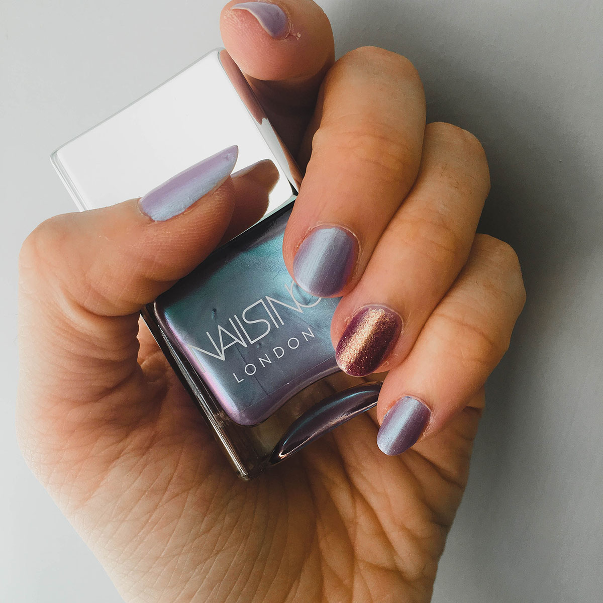 nails inc sparkle like a unicorn pot and review
