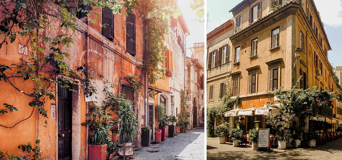 trastevere rome streets