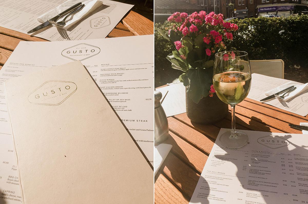 gusto restaurant lytham lancashire menu