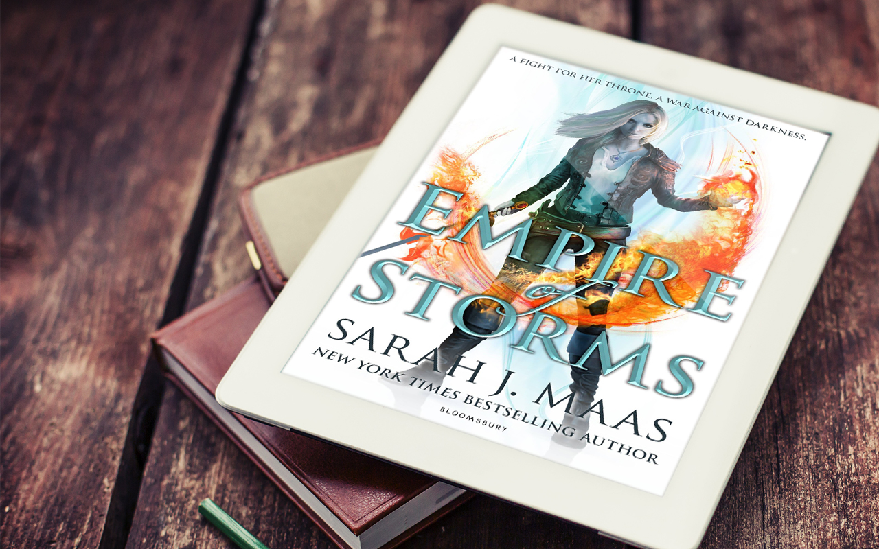 Empire of Storms by Sarah J Maas Book Cover