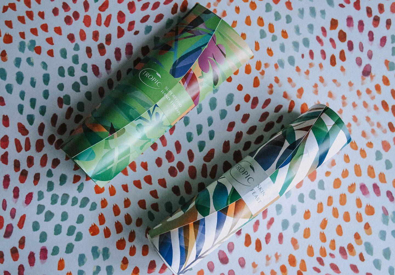 Tropic skincare packaging