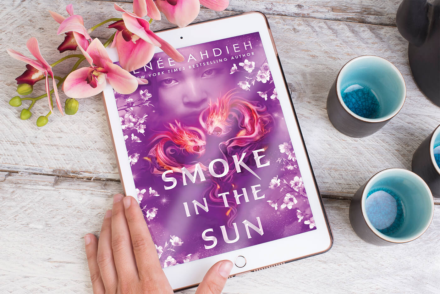 Smoke in the Sun by Renée Ahdieh book cover on an ipad
