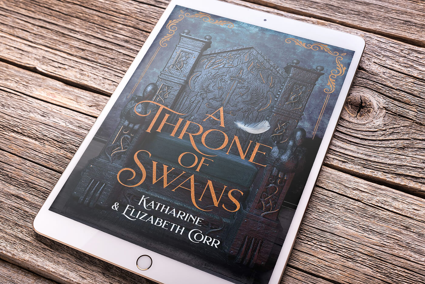 A Throne of Swans by Katharine and Elizabeth Corr book cover